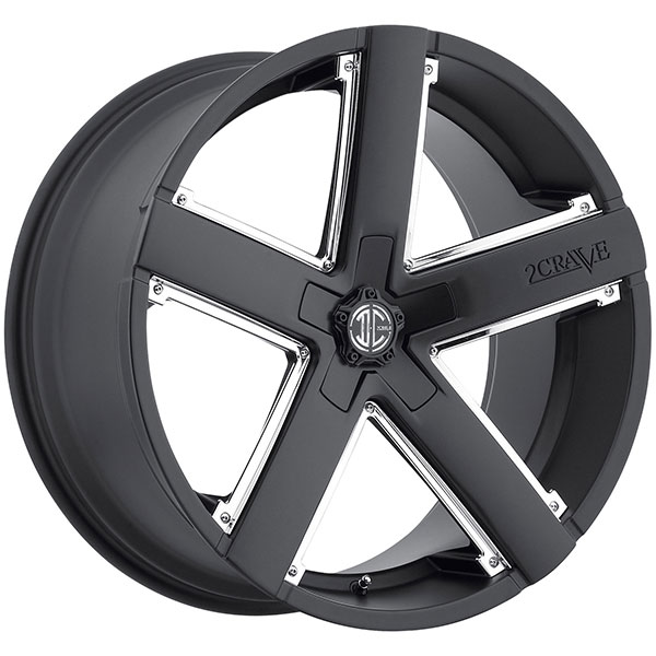 2 Crave No.35 Satin Black with Chrome Inserts