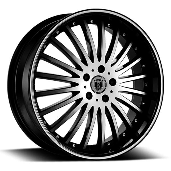 Borghini B23 Black with Machined Face and Stripe