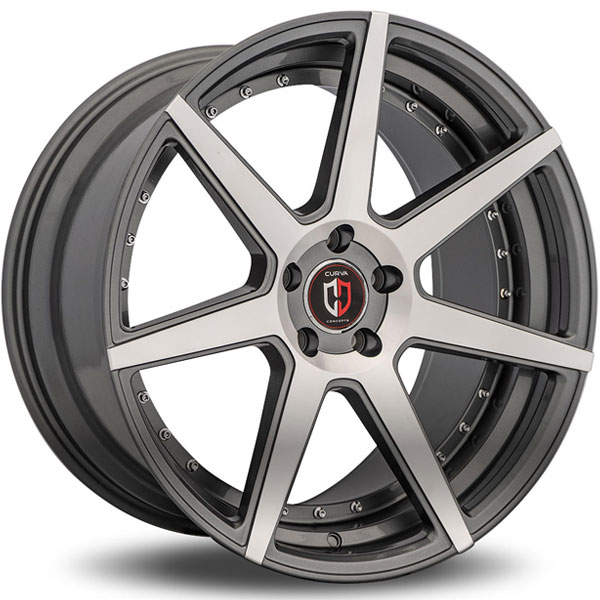Curva Concepts C47 Gunmetal with Machined Face