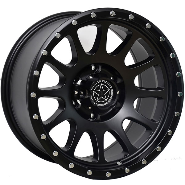 DWG Offroad DW10 Matte Black with Silver Bolts