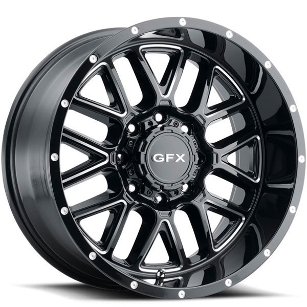 G-FX TR5 Gloss Black with Milled Spokes