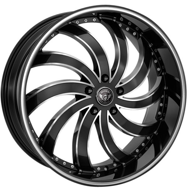 Gima In Flames Black with Machined Edges