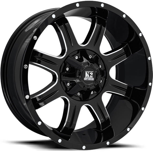 K2 OffRoad K01 Everest Gloss Black Milled