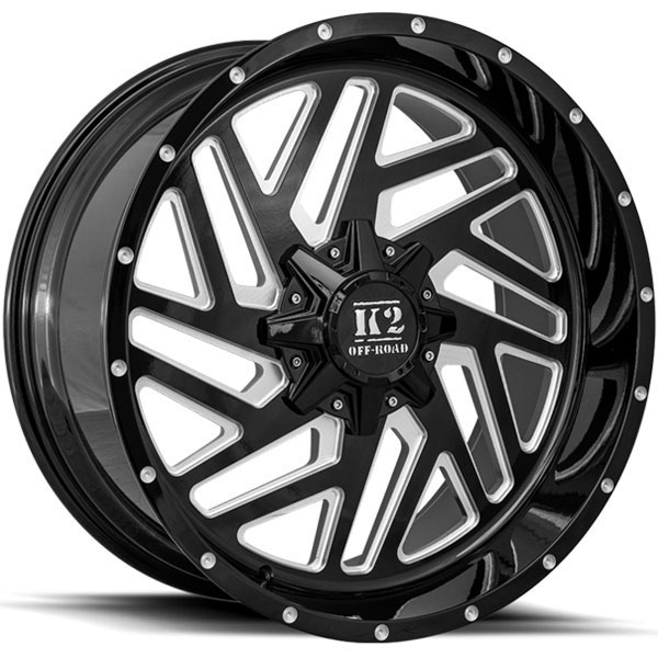 K2 OffRoad K19 Rampage Gloss Black with Milled Spokes