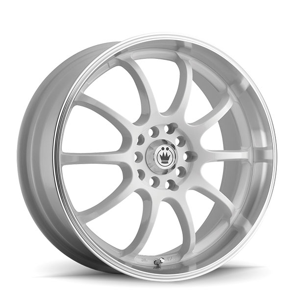 Konig Lightning Gloss White with Machined Lip