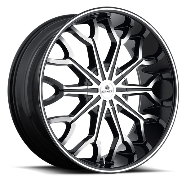 Kraze 1012 Frenzy Black with Machined Face