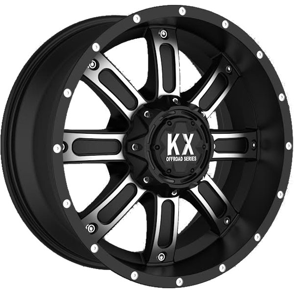 KX Offroad CP71 Matte Black with Machined Face