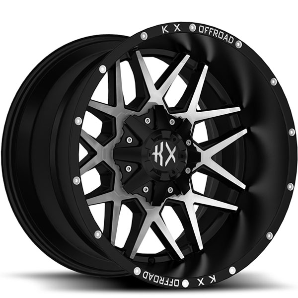 KX Offroad KX05 Matte Black with Machined Face