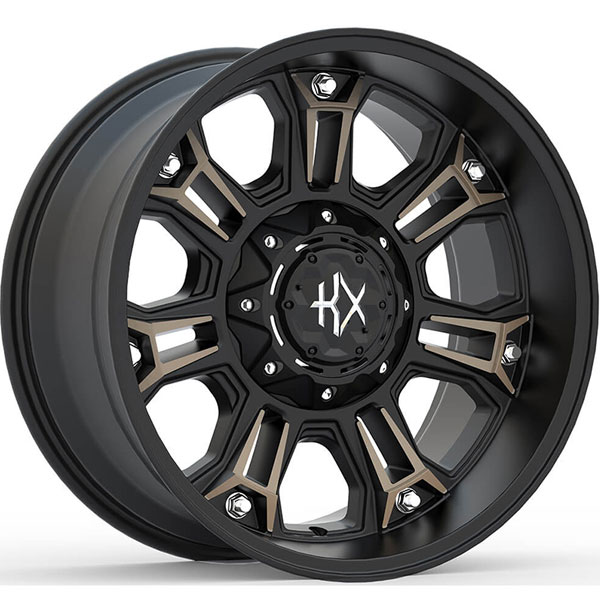 KX Offroad KX12 Matte Black with Machined Face and Bronze Tint