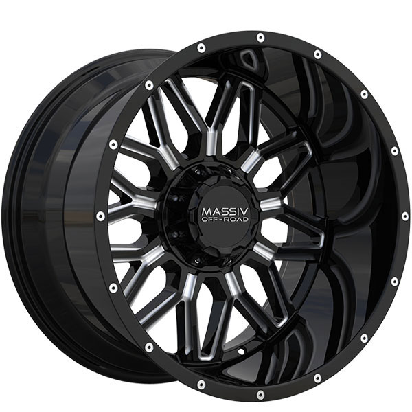 Massiv Offroad OR1 Gloss Black with Milled Spokes