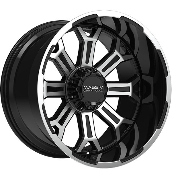 Massiv Offroad OR2 Gloss Black with Machined Face and Trim