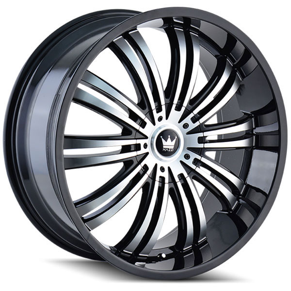 Mazzi Swank 363B Black with Machined Face