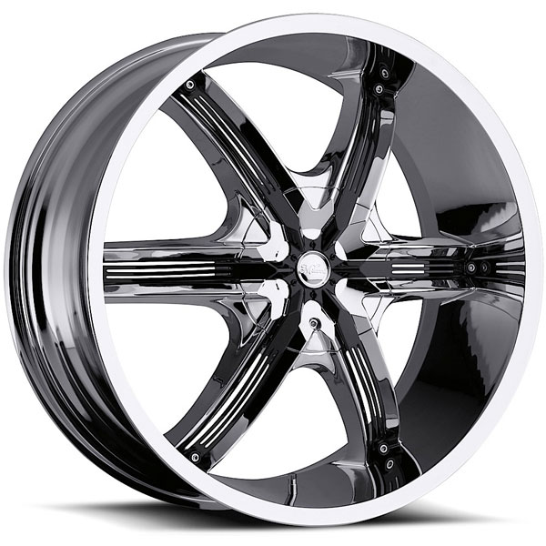 Milanni Bel Air 6 460 Chrome with Black Inserts