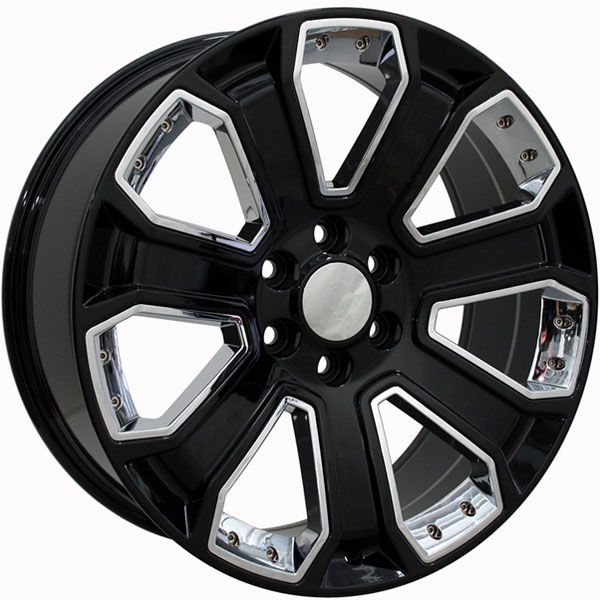 OE Revolution G-06 Gloss Black with Chrome Inserts