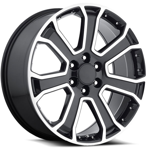 OE Revolution G-06 Gloss Black with Milled Spokes