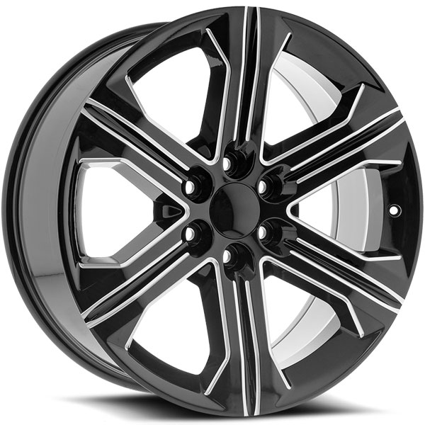 OE Revolution G-13 Gloss Black with Milled Spokes