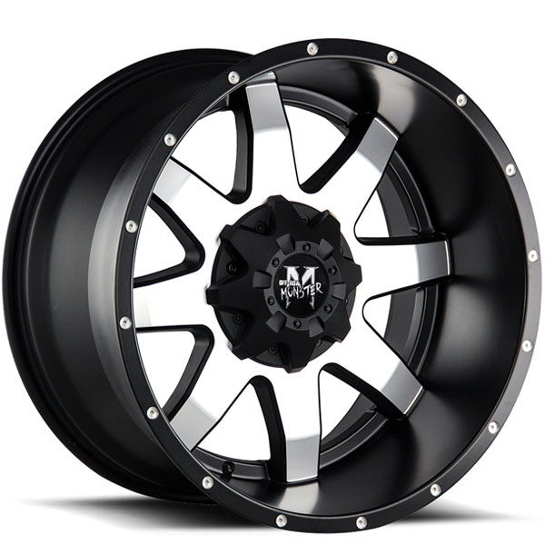 Off-Road Monster M08 Gloss Black with Machined Face V2