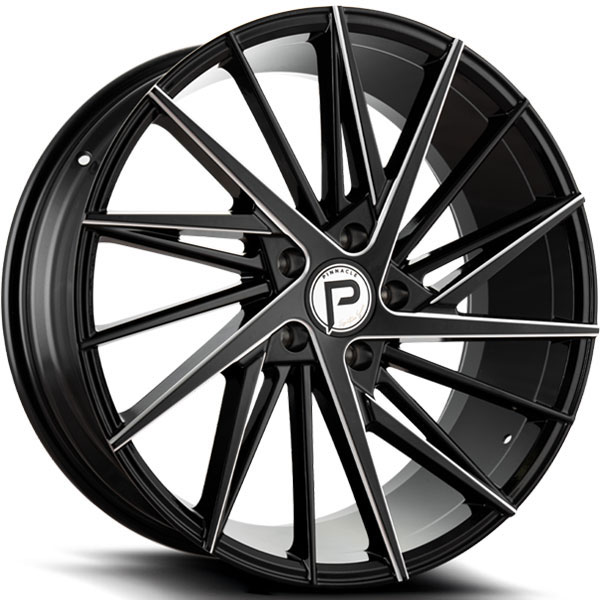 Pinnacle P208 Snazzy Gloss Black with Milled Spokes