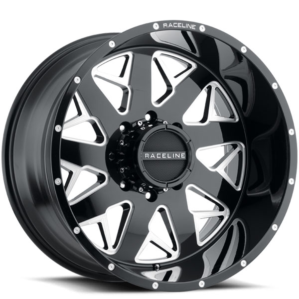Raceline 939M Disruptor Black with Milled Spokes