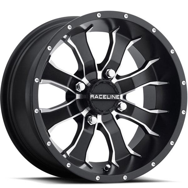 Raceline A77 Mamba UTV Black with Machined Spokes