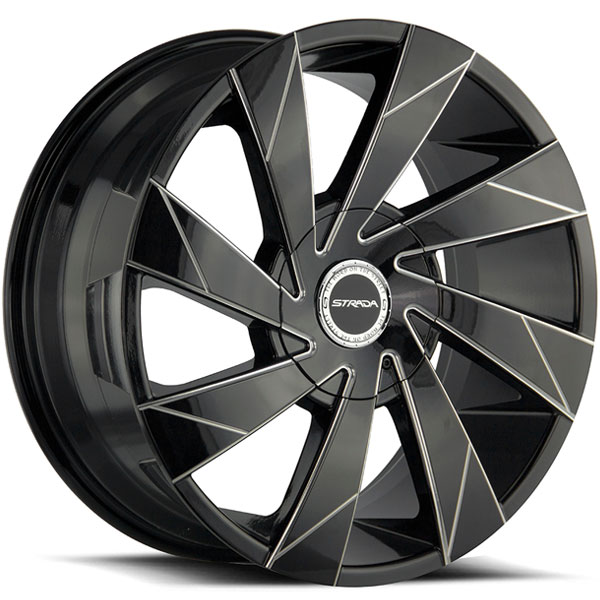 Strada Moto Gloss Black with Milled Edge Spokes