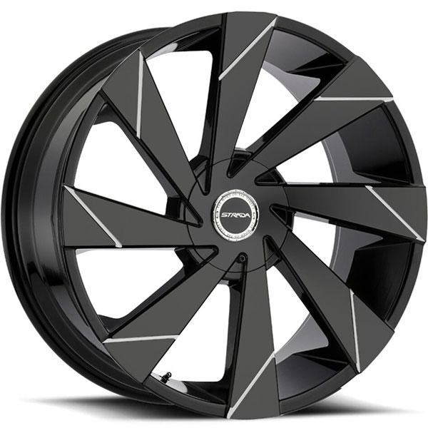 Strada Moto Gloss Black with Milled Line