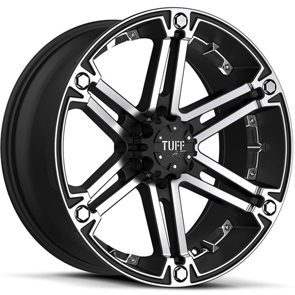 Tuff T01 Flat Black with Machined Face and Chrome Inserts