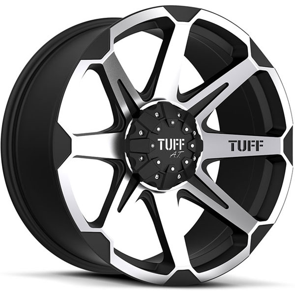 Tuff T05 Flat Black with Machined Face