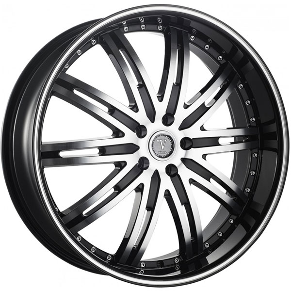 Velocity VW 865A Black with Machined Face and Stripe