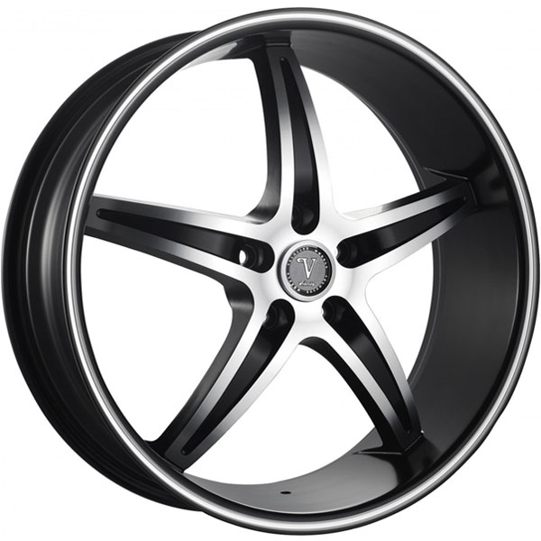 Velocity VW 925 Black with Machined Face