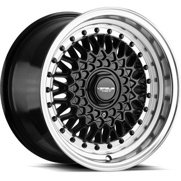 Versus VS218 Gloss Black with Machined Lip