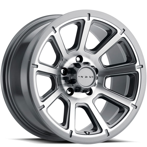 Vision 353 Turbine Gunmetal with Machined Face 5 Lug
