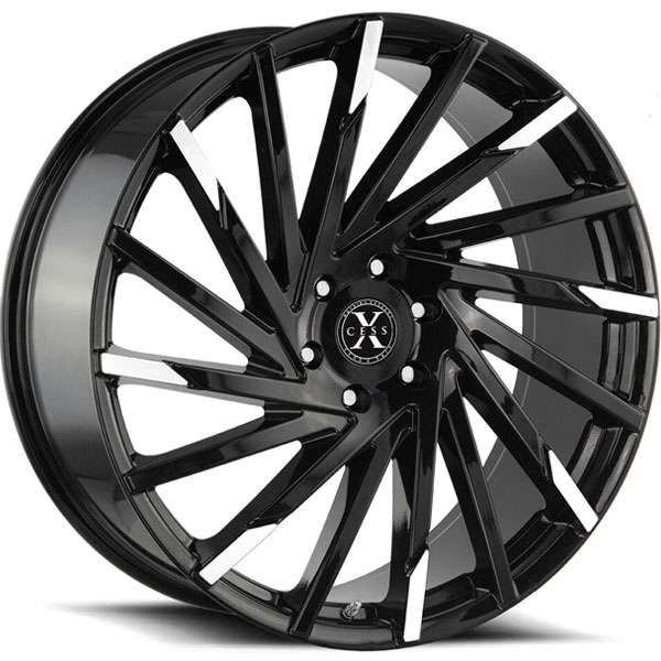 Xcess X02 Gloss Black with Machined Tips