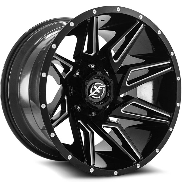 XF Off-Road XF-218 Gloss Black with Milled Spokes