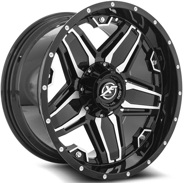 XF Off-Road XF-223 Gloss Black with Milled Spokes